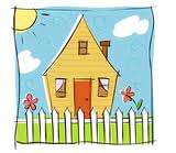 Cartoon House Picket Fence